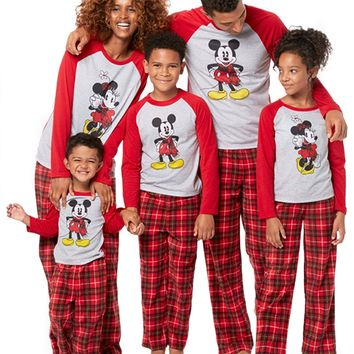 Mickey and Minnie Mouse Holiday Family Sleepwear Pajamas (Adult/Kid/Toddler)