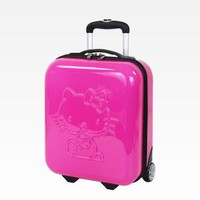 "Hello Kitty 16"" Embossed Rolling Luggage: Rose"