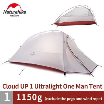 Naturehike 1.1KG 1 Person Dome Tent Double-layer Outdoor Camping Ultralight Tent  20D Silicone Tent NH15T001-T