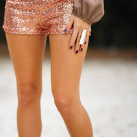 Make Me Proud Shorts: Rose Gold | Hope's