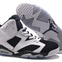Beauty Ticks Big Size To Special You! Nike Air Jordan 6 Retro Aj6 Black/white Size Us 14 15 16