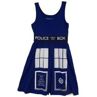 Doctor Who Tardis Police Box Costume Tunic Dress