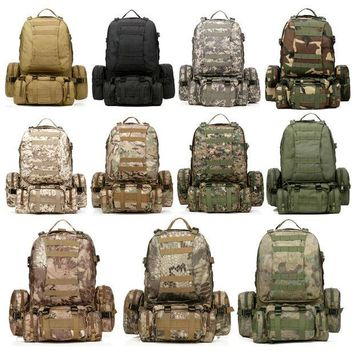 ESBONHS Free Shipping 11 Colors New Large 50L Molle Assault Tactical Outdoor Military Rucksacks Backpack Camping Bag
