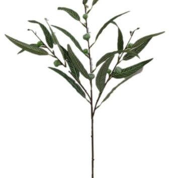 """Artificial Seeded Eucalyptus Leaves - 25"""" Tall"""