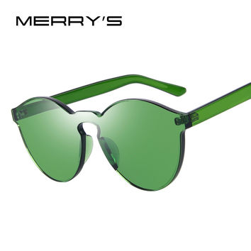 MERRY'S Fashion Sunglasses Women Cat Eye Shades Luxury Brand Designer Sun glasses Integrated Eyewear Candy Color S'703