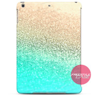 Gold Aqua iPad Case 2, 3, 4, Air, Mini Cover