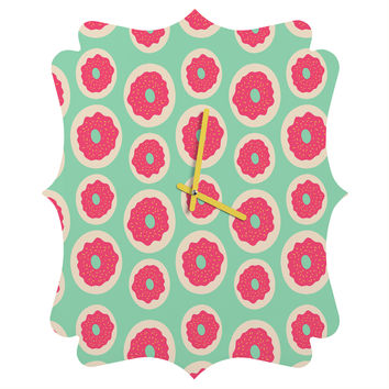 Allyson Johnson Sweet as a donut Quatrefoil Clock