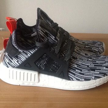 Adidas Nmd XR1 Black Grey white red Trainers Flyknit size 6.5 Adidas sample new