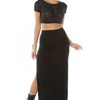 All Day Maxi Skirt in Black
