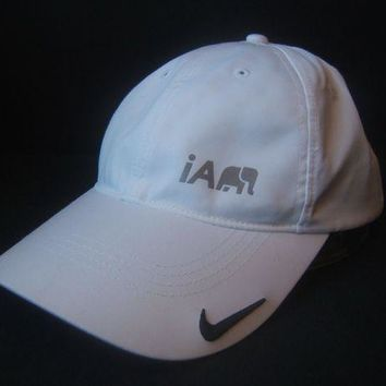 ONETOW Nike Golf Hat White Hook Loop Baseball Cap