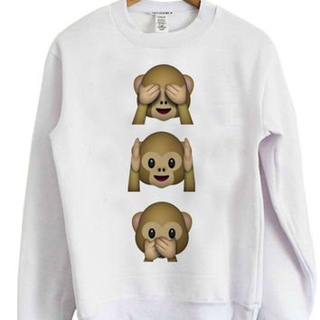Emoji Monkeys Sweatshirt
