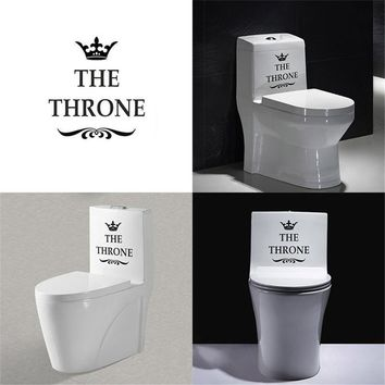 The Throne Crown Toilet Stickers Vinyl Art Wall Decor Waterproof Home Decal for WC Diy