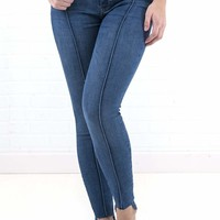 Women's Free People Low Rise Pintuck Skinny Denim