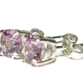 Alexandrite Earrings, 6MM Studs, Color Changing Stone