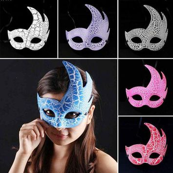 DKF4S Halloween Masquerade Party Mask Half Face Venice show Flame Crack mask Male Female Party Decor accessories hxf A803
