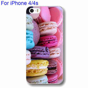 Hard Plastic Colorful Dessert Print Phone Case For iPhone