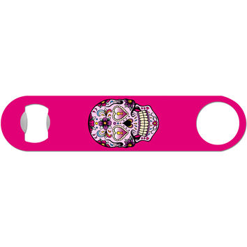 Day of the Dead Skull - Pink Bottle Opener