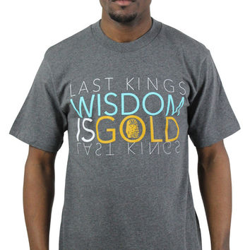 Last Kings Wisdom Gold Men's Crewneck Tee T-Shirt