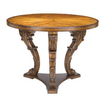 Chandon Centre Piece Table Mid-tone wood stained finish