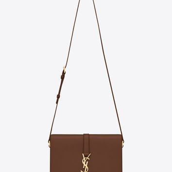 Saint Laurent MONOGRAM SAINT LAURENT UNIVERSITÉ BAG IN Brown LEATHER | ysl.com