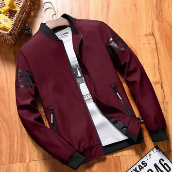 YuWaiJiaRen Autumn Spring Bomber Jacket Men Fashion Long Sleeve Mens Strand Collar Military Windbreaker Male Baseball Jacket 6XL