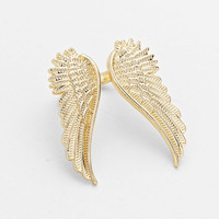 Gold Angel Cuff Ring