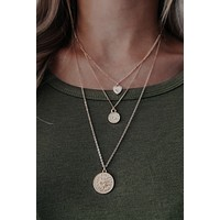 Tell Me When Necklace: Gold