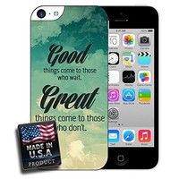 Palm Trees Quote Custom made Case/Cover/Skin FOR iPhone 5C Color -White- Rubber Case