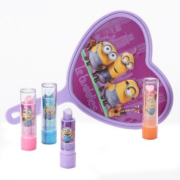 Minions Lip Balm & Hand Mirror Set - Girls (Purple)