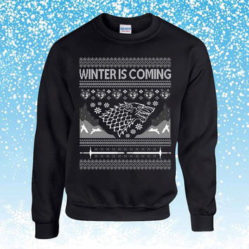 Game of Thrones winter is coming Ugly Christmas Sweater sweatshirt unisex adults