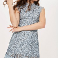 Lace Mini Flare Dress