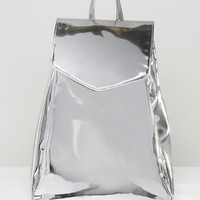 ASOS Metallic High Shine Backpack