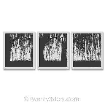 Weeping Willow Trees Wall Art - Choose Any Colors - twenty3stars