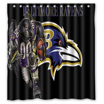 66x72 Baltimore Ravens Curtain 72x72 inch Dragon Ball Z Bleach Fairy Tail Naruto Together Shower Curtain