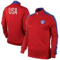 Nike USA Womens N98 Authentic Track Jacket - Red