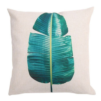 Jungle Print Throw Pillow Cover