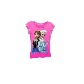 Disney Frozen Girls' Family Forever Graphic Tee, Pink Size Xl 14/16