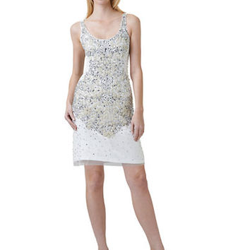 Adrianna Papell Petite Beaded Sheath Dress
