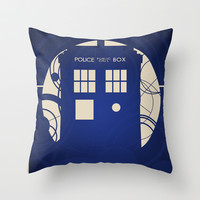 Doctor Who Throw Pillow by LukeMorgan