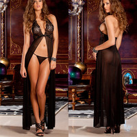 Cute Hot Deal On Sale Sexy Sleepwear Lace Transparent Dress Summer Exotic Lingerie [6596468355]