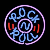 Rock Roll Live Music Neon Sign