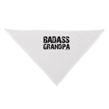 Badass Grandpa Dog Bandana 26 by TooLoud