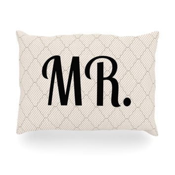 "KESS Original ""MR"" Oblong Pillow"