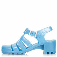 NINA Heeled Jelly Sandals - Pale Blue