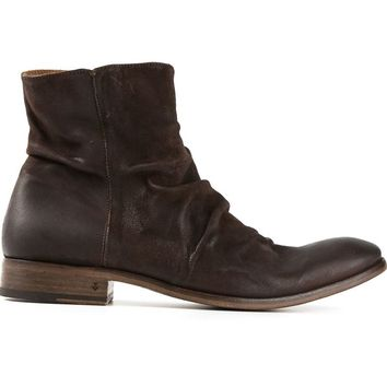 John Varvatos creased ankle boots