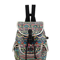 Sakroots Artist Circle Printed Flap Backpack