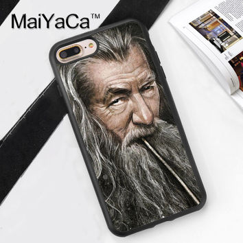 Gandalf The Lord of the Rings Soft Rubber Mobile Phone Cases For iPhone 6 6S Plus 7 7 Plus 5 5S 5C SE 4 4S Cover Shell