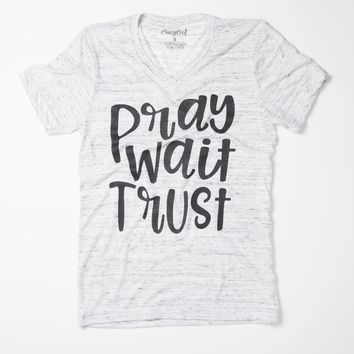 Pray Wait Trust - V-Neck