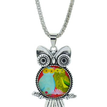 Cute Couple Owl pendant necklace in Jewelry Vintage Sterling Silver