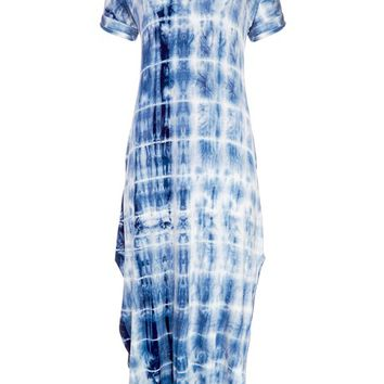 Tie Dye Maxi in Navy Multi | VENUS